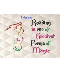 Ariel embroidery with reading is one