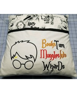 Harry Potter Face Applique Books Turn