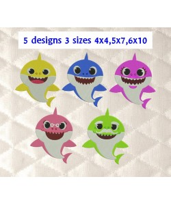 baby shark family 5 designs