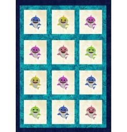 baby shark family quilt