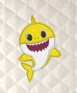 baby shark applique