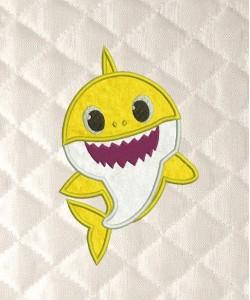 baby shark applique