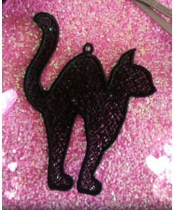 cat lace Freestanding Lace embroidery