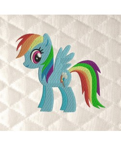 Rainbow Dash embroidery