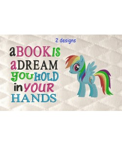 Rainbow Dash with a book is a dream