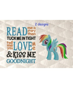 Rainbow Dash with read me a story