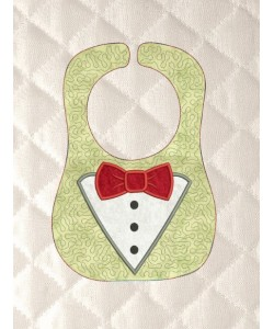 baby bibs Tuxedo applique ITH in the hoop
