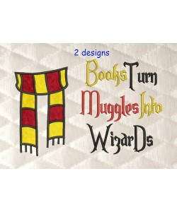 Scarf harry potter with Books Turn