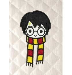 harry potter face scarf applique