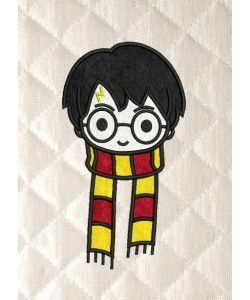 harry potter face scarf applique