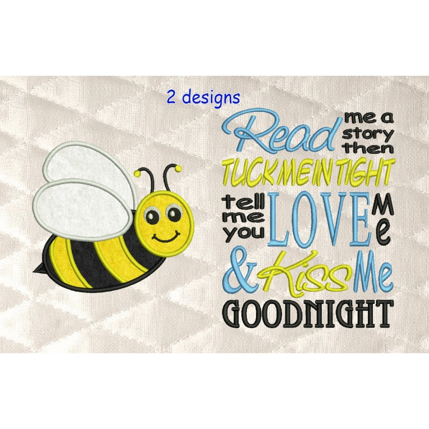 bee applique with read me 2 designs 3 sizes