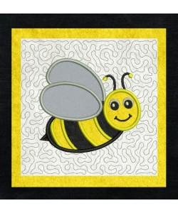 bee stippling applique in the hoop