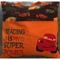 McQueen applique with reading is my super power
