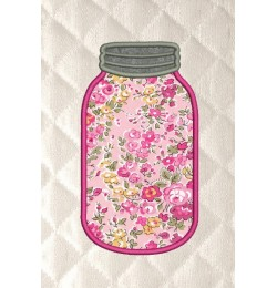 mason jar applique