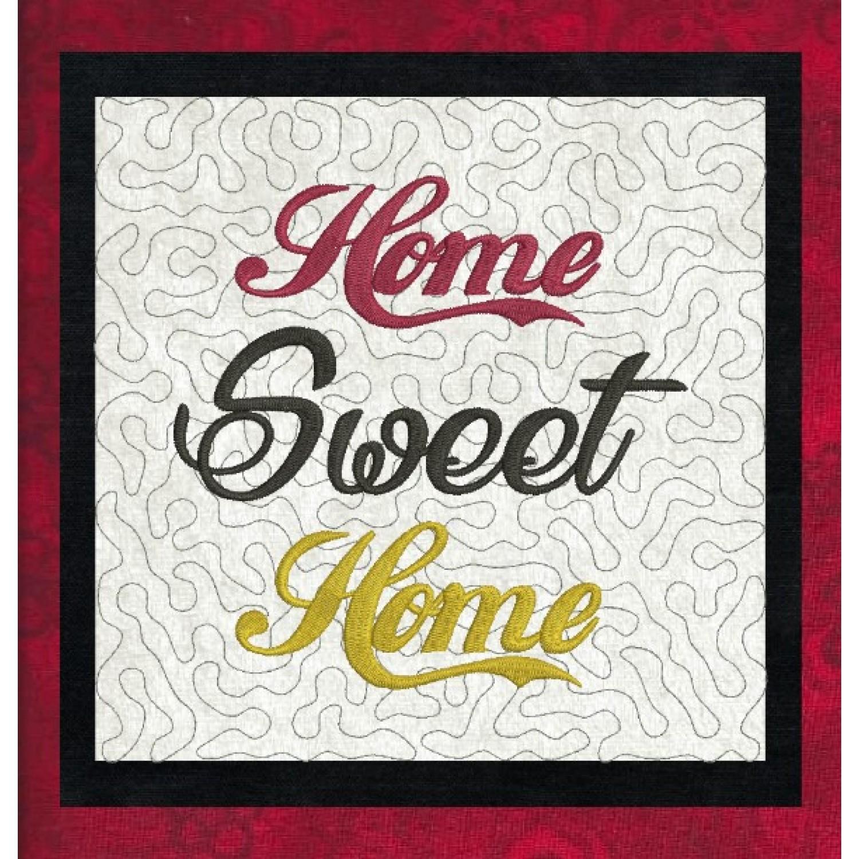 Home Sweet Home stippling in the hoop