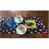 Tea Table Runner stippling quilt