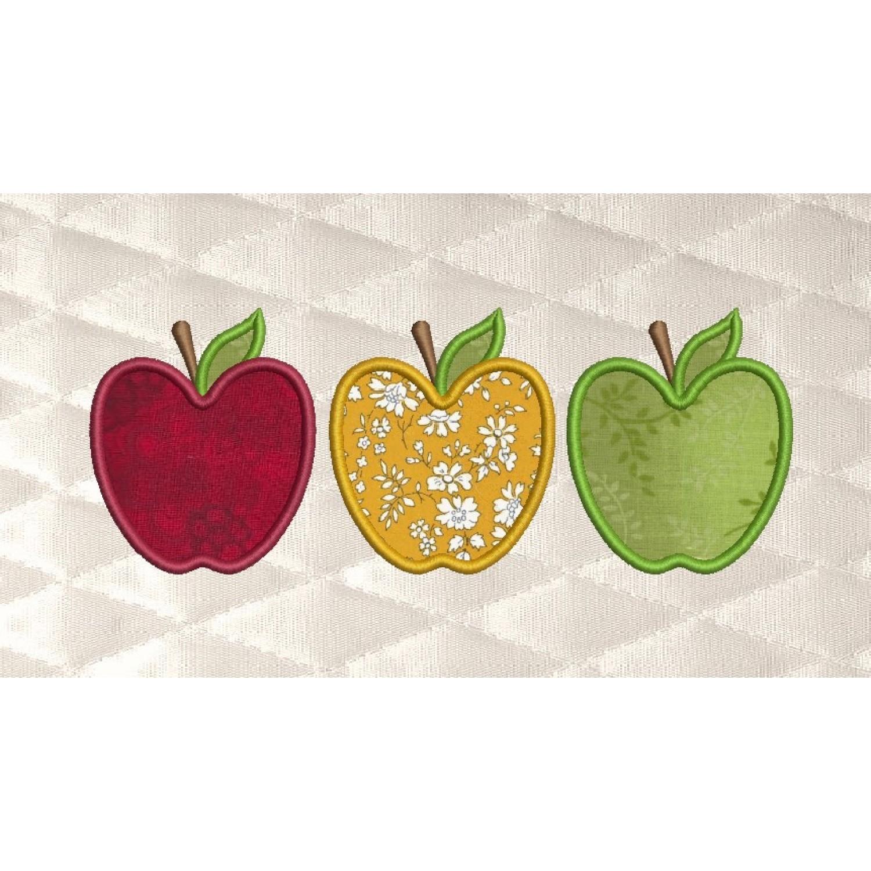 Three apples applique