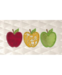 Three apples applique