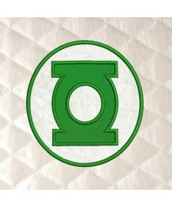 Green lantern Logo applique