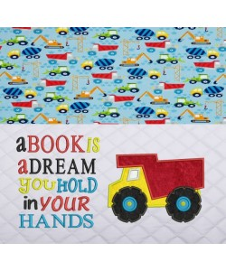 Dump truck with a book is a dream designs