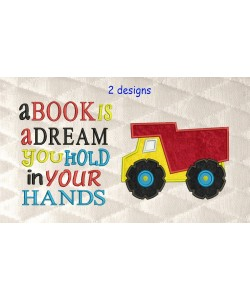 Dump truck with a book is a dream