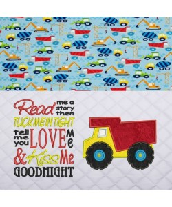 Dump truck with read me a story Embroidery