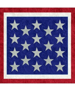 America Quilt Block embroidery