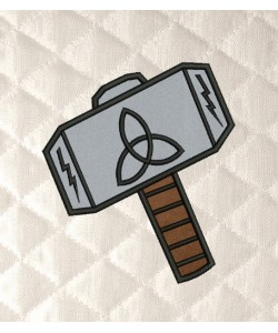 thor Hammer applique