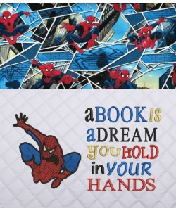 Spiderman lonway with A book is a dream