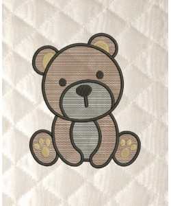 bear serte embroidery