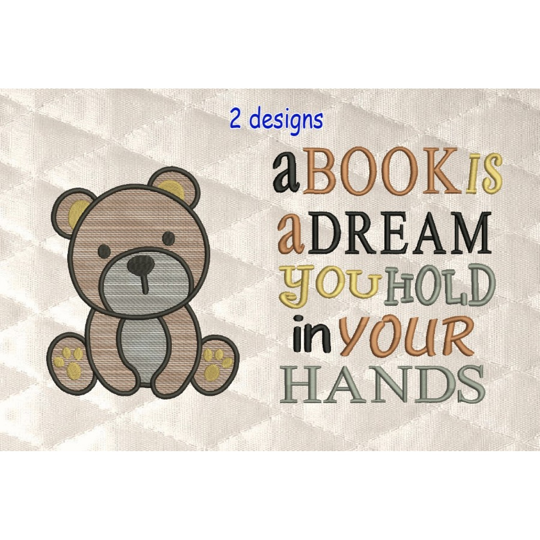 bear serte with a book is a dream