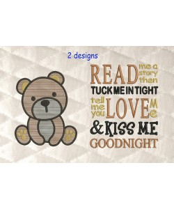 bear serte with read me a story 2 designs 3 sizes