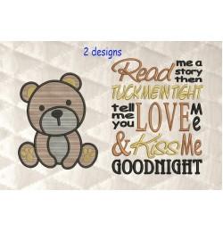 bear serte with read me 2 designs 3 sizes