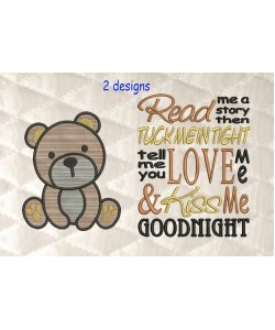 bear serte with read me 2 designs 3 sizes