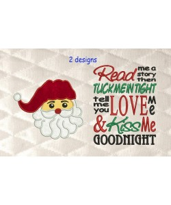 santa face applique with read me 2 designs 3 sizes