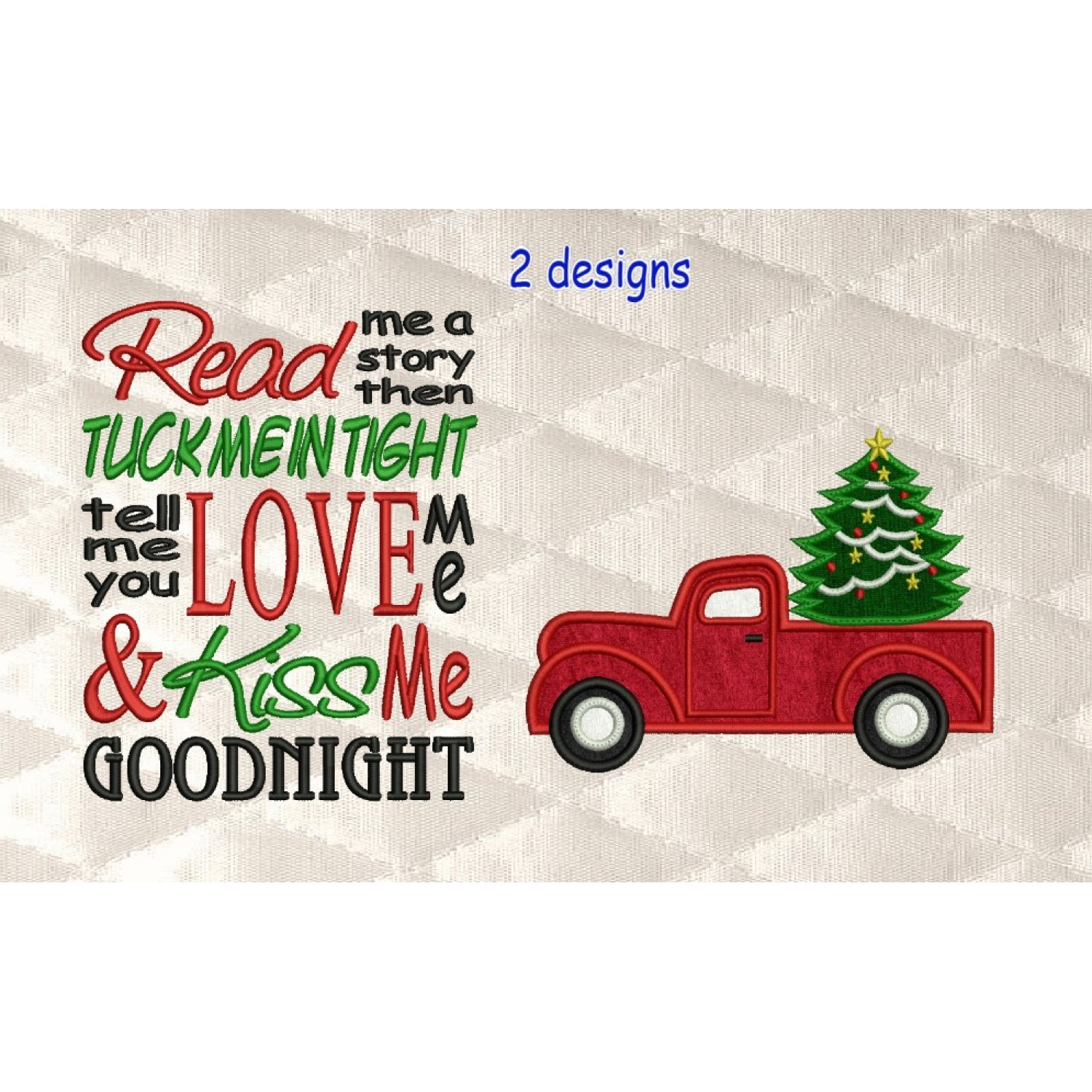 Christmas Truck applique with read me 2 designs 3 sizes