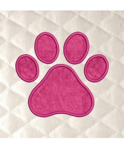 paw prints applique