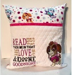 skye paw patrol embroidery with read me a story 2 designs 3 sizes