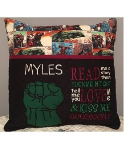 Hulk Fist applique with read me a story 2 designs 3 sizes