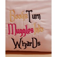 Books turn embroidery