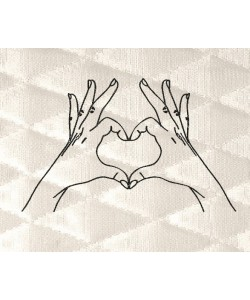 Heart hand line