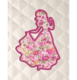 Snow White Silhouette applique