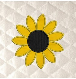 sunflower simple applique