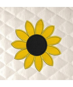sunflower simple applique