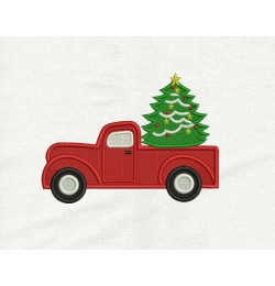 Christmas Truck embroidery