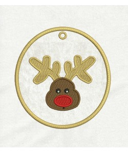 Reindeer Face Ornaments in the hoop