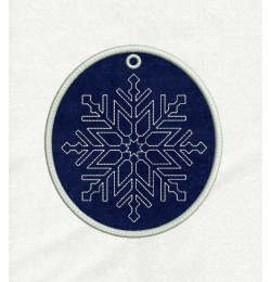 Snowflake line Ornaments in the hoop