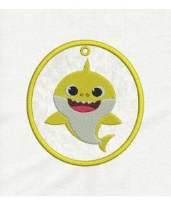 baby shark Ornaments in the hoop