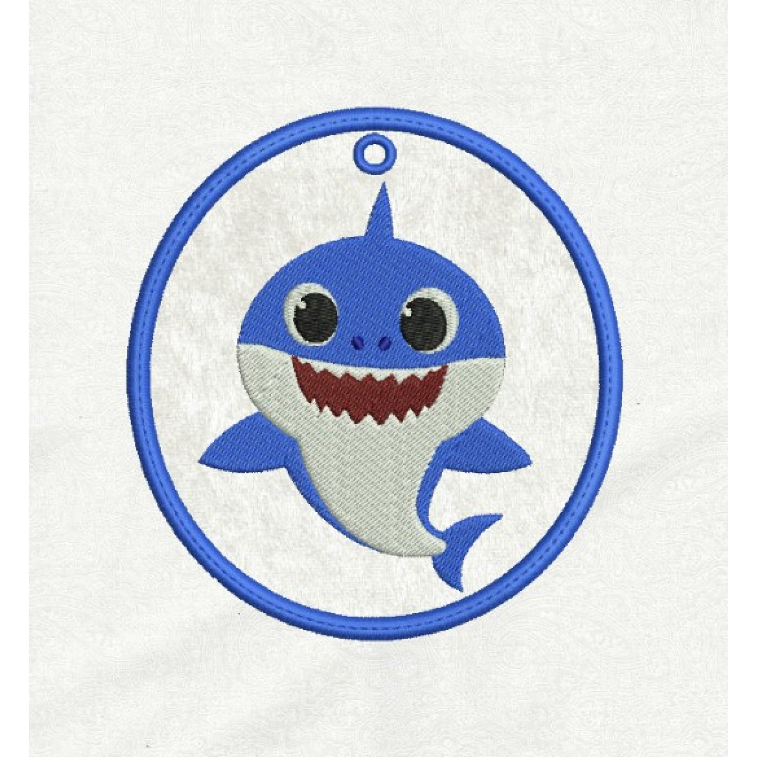 Daddy Shark Ornaments in the hoop