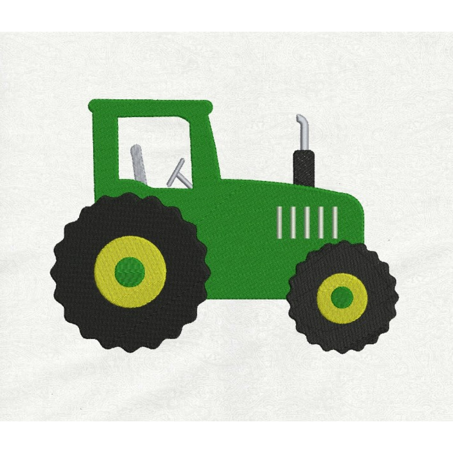 tractor embroidery vert